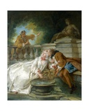 Couple Called Fete Champetre, 1730 Giclee Print by Jean-Baptiste Joseph Pater