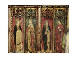 Rood Screen with Four Male Figures, Church of St. Helen, Gateley, Norfolk, Uk Giclee Print