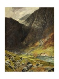 Styhead Pass, Borrowdale, 1854 Giclee Print by Alfred William Hunt