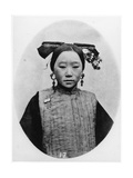 Frontview of Coiffure of a Married Manchu Matron, C.1867-72 Photographic Print by John Thomson