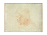 Study for Head of a Woman Giclee Print by Alfred Emile Stevens