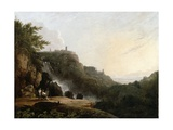 View of Tivoli: the Cascatelle and the Villa of Maecenas, C.1752 Giclee Print by Richard Wilson