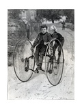 The Stolen Steed, Two Boys Riding a Tricycle, 1891 Giclee Print by William Rainey