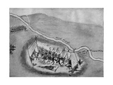 Situation of Indian Tents and the 3rd Colorado Regiment at the Beginning of the Sand Creek Fight,… Giclee Print