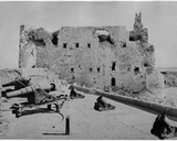 The Fortress of Qaitbey after the Bombardment of Alexandria, 1882 Photographic Print by Brothers Zangaki