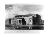 East Front of the New Theatre Royal, Covent Garden, Engraved by Richard Reeve, 1809 Giclee Print by John Hodges Benwell