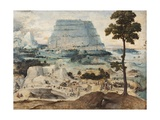 Building the Tower of Babel, C.1550 Giclee Print by Joachim Patenir