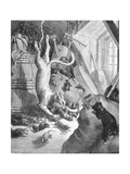 The Cat and the Old Rat, Illustration from 'Fables' by La Fontaine, 1868 Giclee Print by Gustave Doré