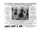 "Advert for the ""Hart"" Patent Safety Cycling Skirt, C.1897 Giclee Print"