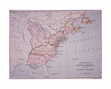 The Colonies of North America at the Declaration of Independence Giclee Print by Edward Stanford