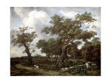 A Wood Near the Hague, with a View of the Huis Ten Bosch Giclee Print by Jan Thomasz. van Kessel