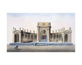 Theatre in Brussels Erected for the Inauguration of the King in 1815, from 'Choix Des Monuments,… Giclee Print by Pierre Jacques Goetghebuer