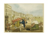 An Inexperienced Palanquin Rider, Tom Shaw Hiring a Palanquin on the Esplanade, Calcutta Giclee Print by Charles D'oyly