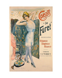 Advertisement for 'Le Furet' Corsets Giclee Print by Manuel Robbe