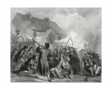 Attack on the Police by the People under Smith O'Brien in Ballingarry, County Tipperary, Ireland… Giclee Print by Henry Warren