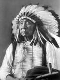 David Frances Barry - Red Cloud, Dakota Chief, Wearing a Headdress, 1880s - Fotografik Baskı