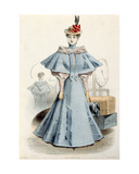 Woman in Travel Dress, from 'Le Coquet', 1895 Giclee Print