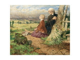 Little Nell and Her Grandfather Leaving London, 1857 Giclee Print by John Ritchie
