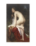 Woman Bathing, 1864 Giclee Print by William Adolphe Bouguereau