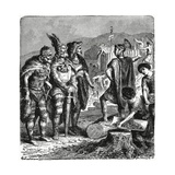 Julian and Frankish Chiefs, C.1880 Giclee Print by Heinrich Leutemann