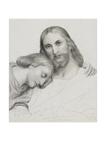 Figure of Christ with a Man Giclee Print by Ary Scheffer