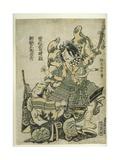 Asaina Saburo Yoshihide Pulling the Armour of Soga No Goro, C.1777 Giclee Print by Suzuki Harunobu