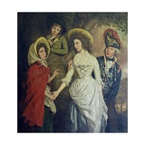 The Stapleton Family, 1789 Giclee Print by Thomas Beach
