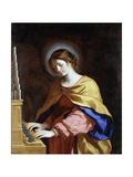 St. Cecilia, C.1649 Giclée-tryk af  Guercino (Giovanni Francesco Barbieri)