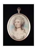 Portrait Miniature of an Unknown Lady Wearing a White Dress with Frilled Neckline and a Black… Giclee Print by Andrew Plimer