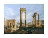 The Roman Forum Giclee Print by Jodocus-Sebastiaen van den Abeele