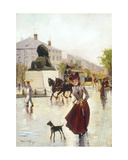 Paris Street Scene, 1890 Giclee Print by Francis Garat