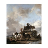 Peasants in the Fields: Hay Harvest Giclee Print by Philips Wouwermans Or Wouwerman