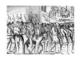 The Manner of the Popish Spaniards in Carrying Nicholas Burton to His Execution, from 'Acts and… Giclee Print
