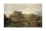 Huy on the Meuse, Belgium Giclee Print by George Clarkson Stanfield