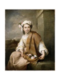 The Flower Girl, C.1665-70 Giclee Print by Bartolome Esteban Murillo