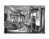 A Lyonnais Weaver and His Family, C.1880 Giclee Print by Auguste Gerardin