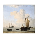 A Calm, 1663 Giclee Print by Willem Van De, The Younger Velde