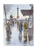 The Place De La Bastille, Paris Giclee Print by Georges Stein