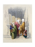 Street Scene with Passers-By Including a Poor Black African Woman and Child, Slave or Freed… Giclee Print by Amadeo Preziosi