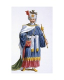 Japanese Emperor Kaogun, 1780 Giclee Print by Pierre Duflos