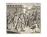 The Pope Riding, the Emperor Holding His Bridle, Kings Walking before Him, Illustration from… Giclee Print