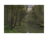 Along the River Epte in Gasny, 1882 Giclee Print by Cesar de Cock