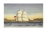 Tigris 10 Guns, Mocha, 1835 Giclee Print by Rupert Kirk