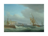 Shipping Off Dover, C.1760 Giclee Print by Thomas Whitcombe