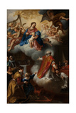The Vision of St. Philip Neri, 1721 Giclée-tryk af Marco Benefial