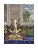 A Bride, C.1708 Giclée-Druck von Jean Baptiste Vanmour