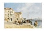 View of the Zattere Dock, Venice Giclee Print by Jacques Guiaud