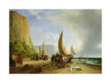 Fishing Off Yarmouth Giclee Print by George Vincent