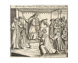 Frederick I, Emperor, Holding Ye Popes Stirrup on Ye Wrong Side, Illustration from 'Acts and… Giclee Print