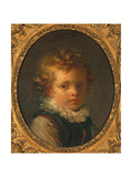 Head of a Boy (Alexandre-Evariste 'Fanfan' Fragonard), C.1785 Impression giclée par Jean-Honore Fragonard